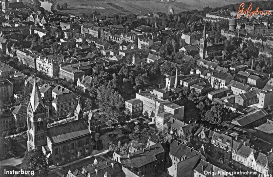 манипуляции старые фото города черняховска легла