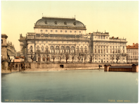 Прага - National Theatre, Prague, Bohemia, Austro-Hungary. Национальный театр, Прага, Богемия, Австро-Венгрия Чехия,  Прага