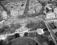 Вашингтон - Aerial view including the base of Connecticut Avenue, looking northwest from above the White House grounds США , Вашингтон (округ Колумбия)